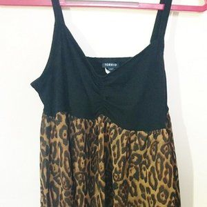 Black and leopard Torrid 0 Stretchy